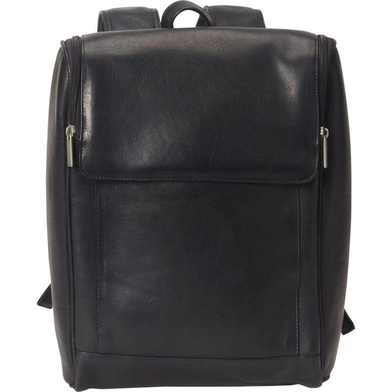 ピーターソン メンズ スーツケース バッグ Downtown Leather Laptop Backpack Black