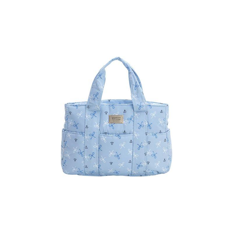 ヴォヴァロヴァ メンズ トートバッグ バッグ Carryall Tote Bag Petite Knots - Light Blue