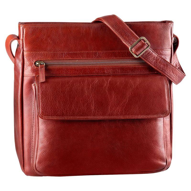 デレクアレクサンダー メンズ ショルダーバッグ バッグ Large Multi Compartment Shoulder Bag Whisky