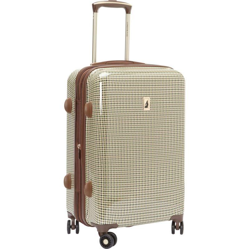 ロンドンフォグ メンズ スーツケース バッグ Cambridge 21 Expandable Hardside Spinner Carry On Olive Plaid