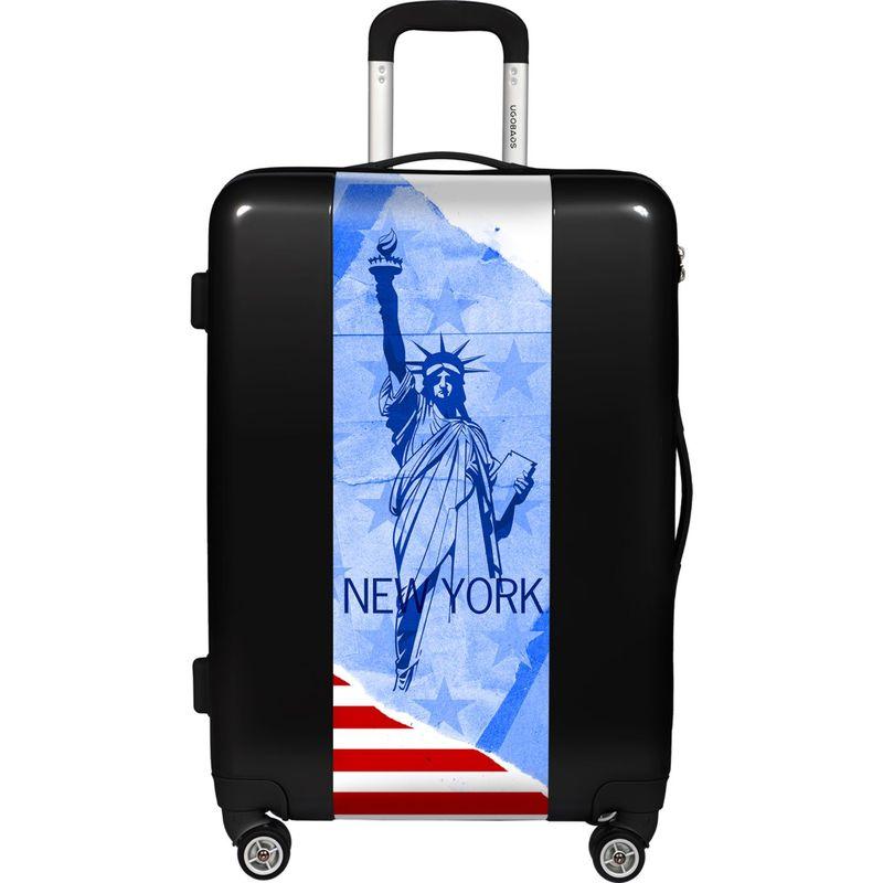 ウゴバッグ メンズ スーツケース バッグ New York 26.5 Hardside Spinner Black
