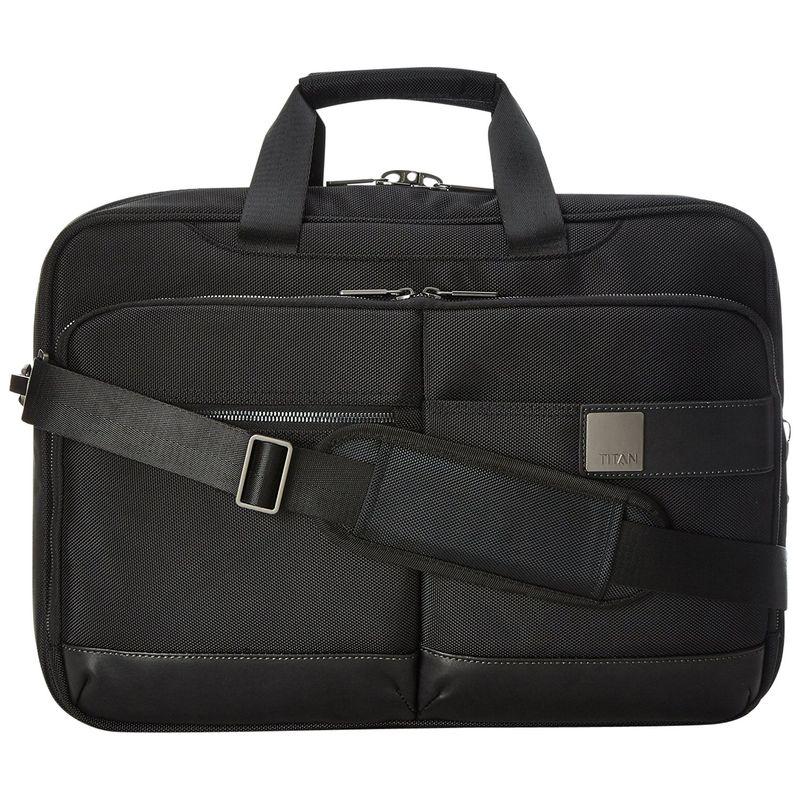 タイタンバッグス メンズ スーツケース バッグ Power Pack Organizational 18 Laptop Brief Black