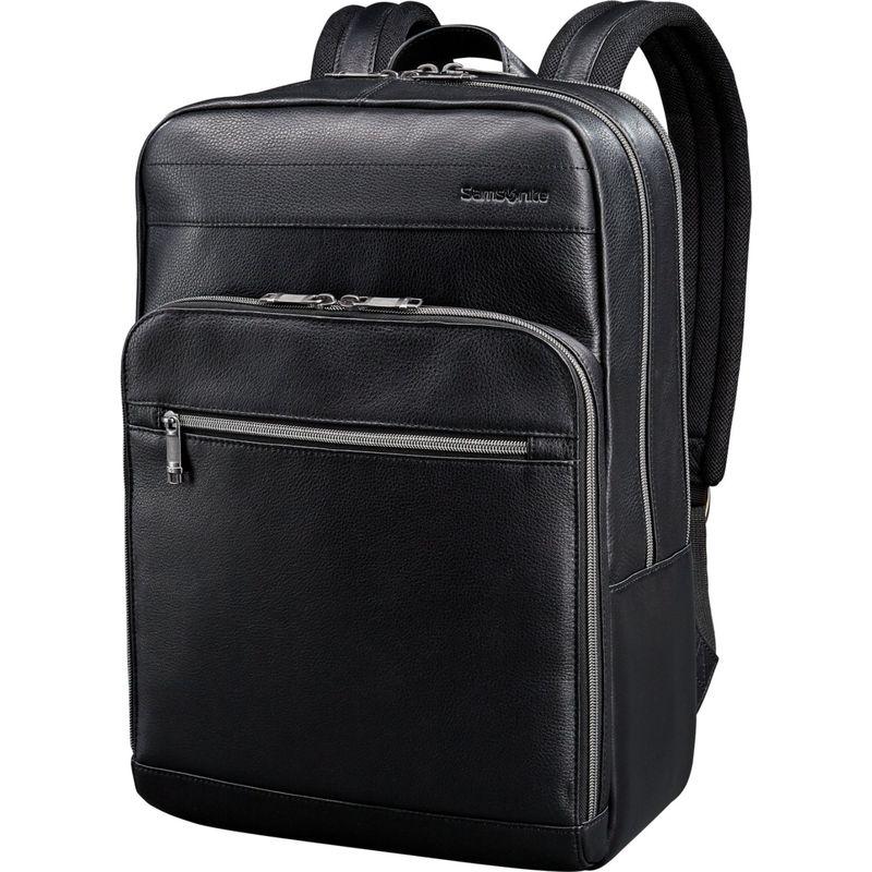 サムソナイト メンズ スーツケース バッグ Leather Slim Laptop Backpack Black