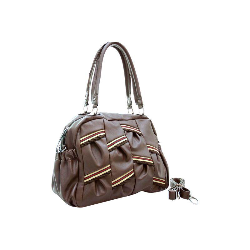 ダセイン メンズ ショルダーバッグ バッグ Multi Color Stripe Shoulder Bag with Removal Shoulder Strap Brown