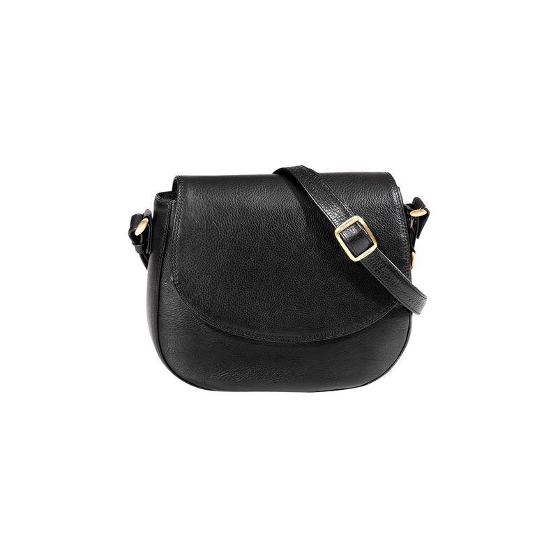 デレクアレクサンダー メンズ ボディバッグ・ウエストポーチ バッグ Small Half Flap Saddle Bag Black