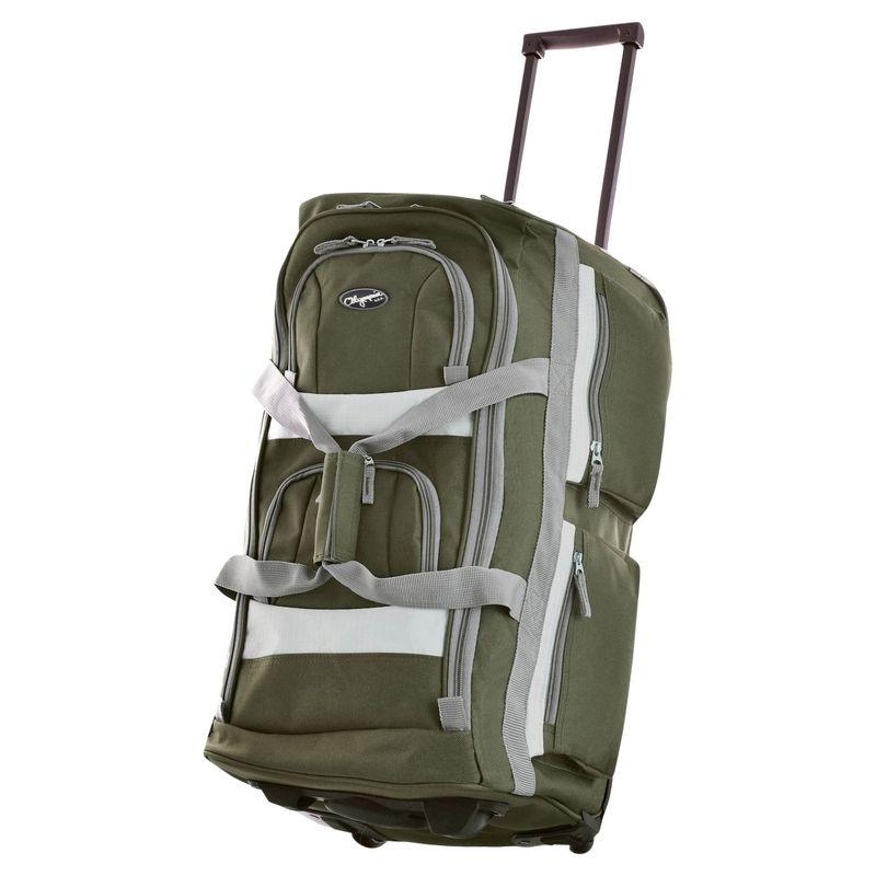 オリンピア メンズ スーツケース バッグ 29 8 Pocket Rolling Duffel Green