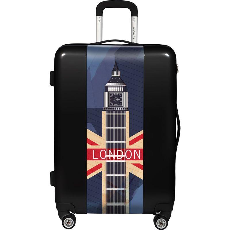 ウゴバッグ メンズ スーツケース バッグ London 26.5 Hardside Spinner Black