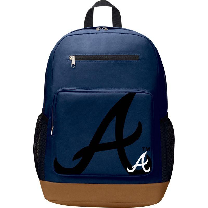 MLB メンズ バックパック・リュックサック バッグ PlayMaker Laptop Backpack Atlanta Braves