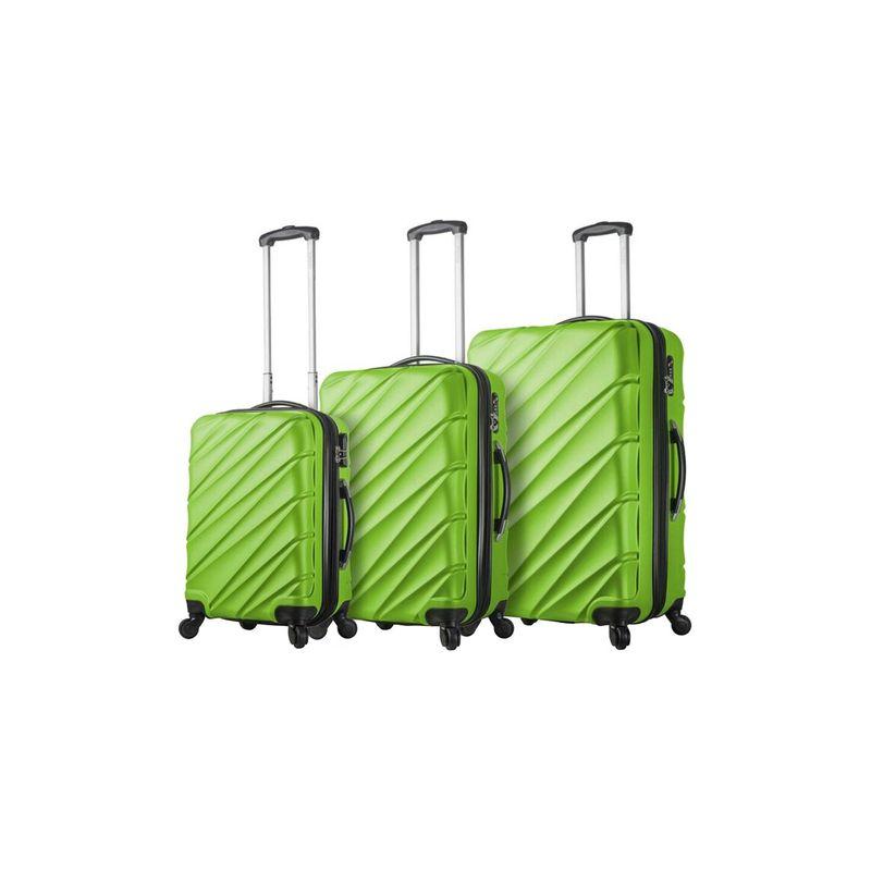 ミアビアッギ メンズ スーツケース バッグ Lodi Hardside 3 Piece Spinner Set Green