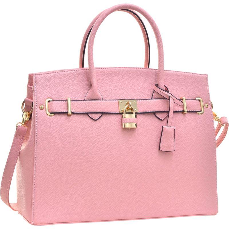 ダセイン メンズ ハンドバッグ バッグ Faux Leather Work Satchel with Padlock Pink