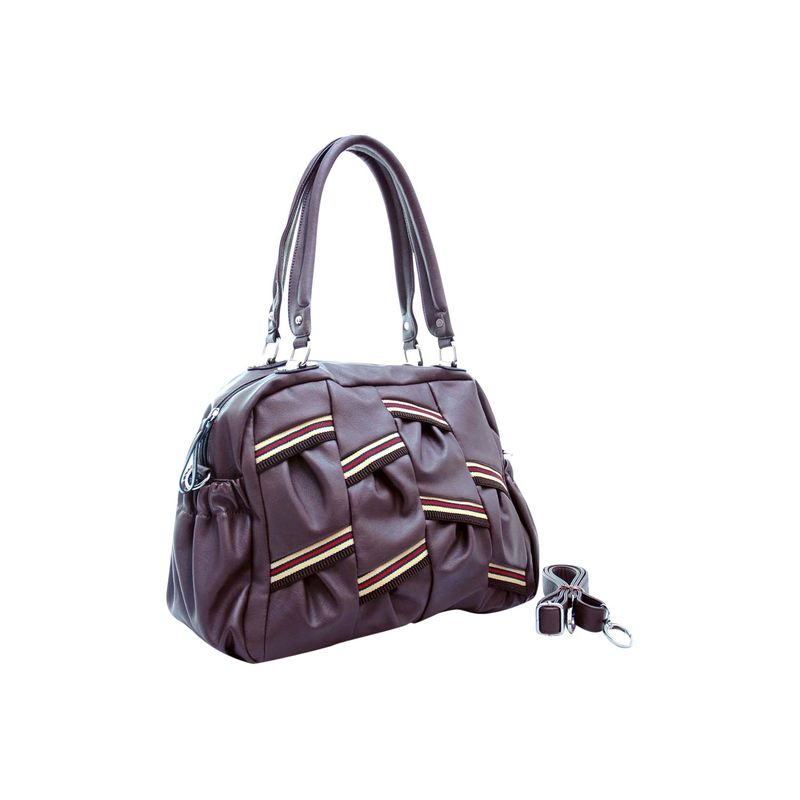 ダセイン メンズ ショルダーバッグ バッグ Multi Color Stripe Shoulder Bag with Removal Shoulder Strap Purple