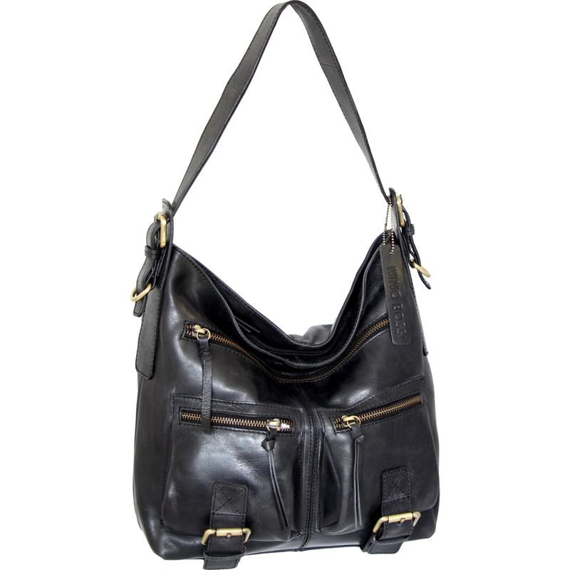ニノボッシ メンズ ショルダーバッグ バッグ Bettina Shoulder Bag Black
