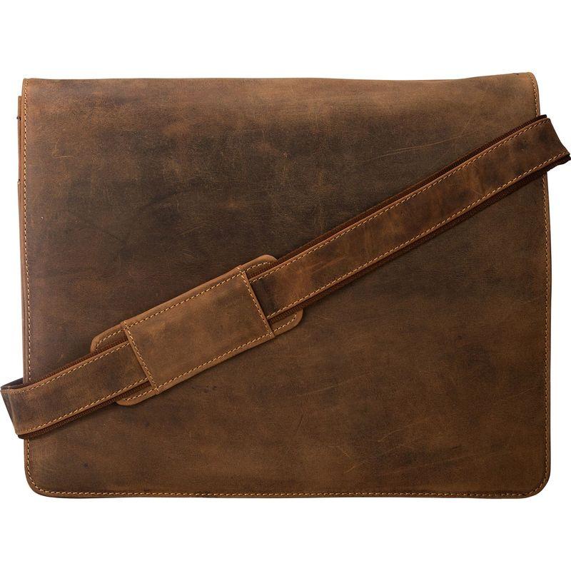 ビスコッティ メンズ ショルダーバッグ バッグ Leather Distressed Messenger Bag Harvard Collection Oil Tan