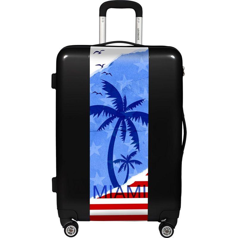 ウゴバッグ メンズ スーツケース バッグ Miami 26.5 Hardside Spinner Black