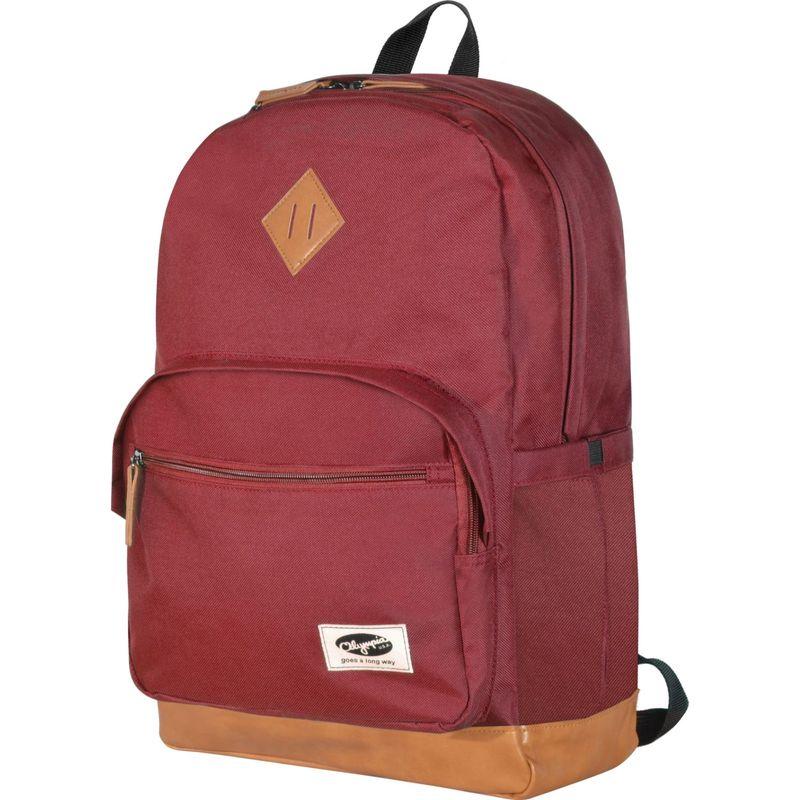 オリンピア メンズ バックパック・リュックサック バッグ Element 18'' Laptop Backpack MAROON