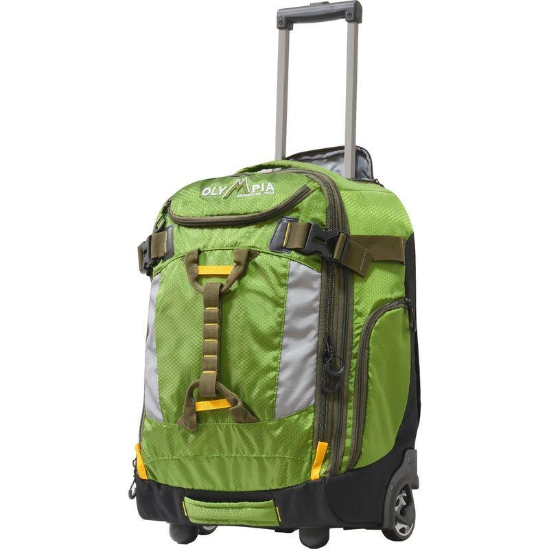 オリンピア メンズ バックパック・リュックサック バッグ Cascade 20 Rolling Carry-On with Hideaway Backpack Straps Green
