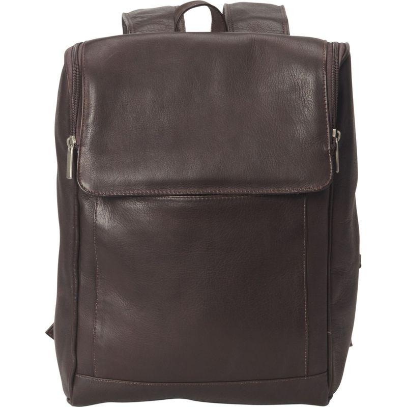 ピーターソン メンズ スーツケース バッグ Downtown Leather Laptop Backpack Brown