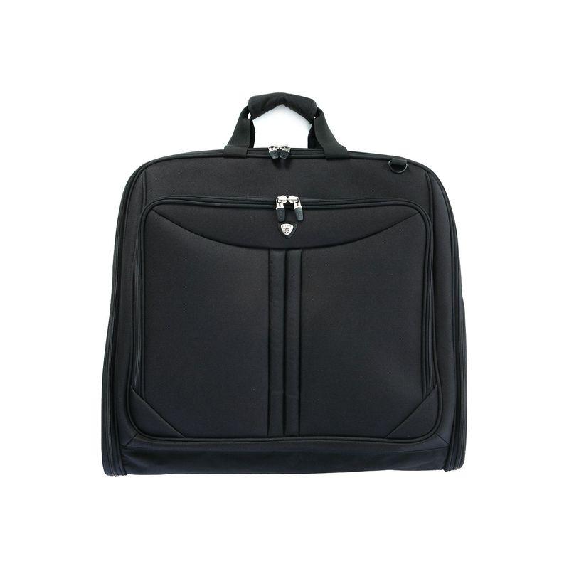 オリンピア メンズ スーツケース バッグ Garment Bag Black