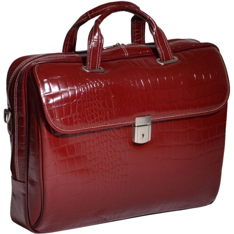 シアモッド メンズ スーツケース バッグ Monterosso Collection Settembre Ladies Laptop Brief Cherry Red