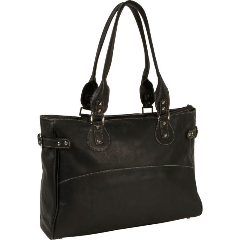 ピエール メンズ スーツケース バッグ Ladies Large Side Strap Laptop Tote Black