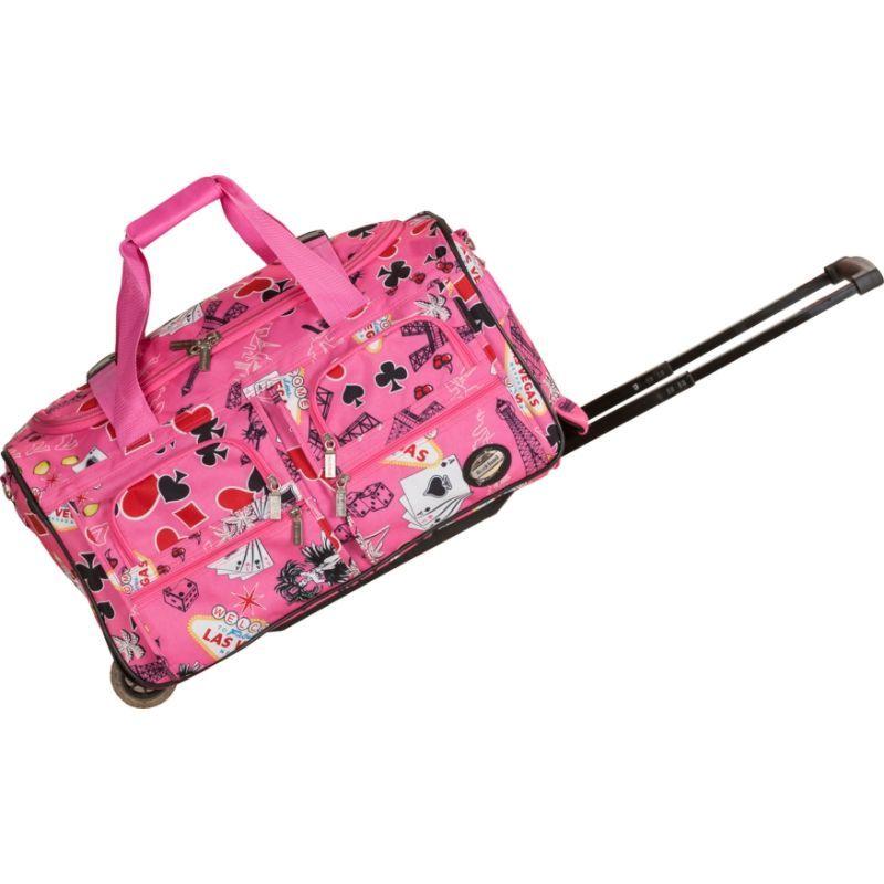 ロックランド メンズ スーツケース バッグ 22 Rolling Duffle Bag Pink Vegas