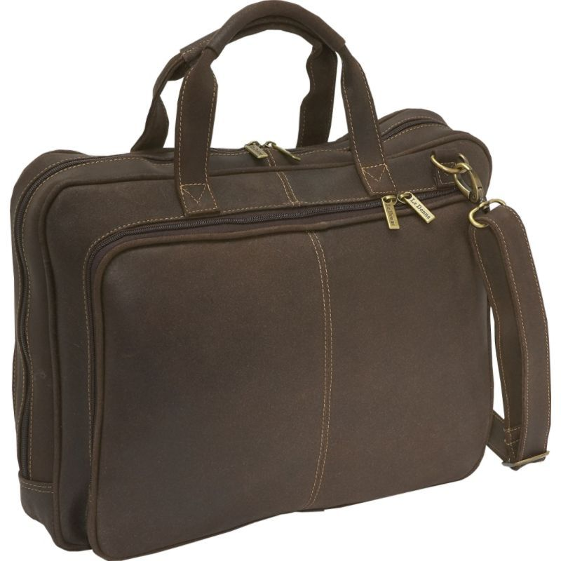 ルドネレザー メンズ スーツケース バッグ Distressed Leather Computer Brief Chocolate