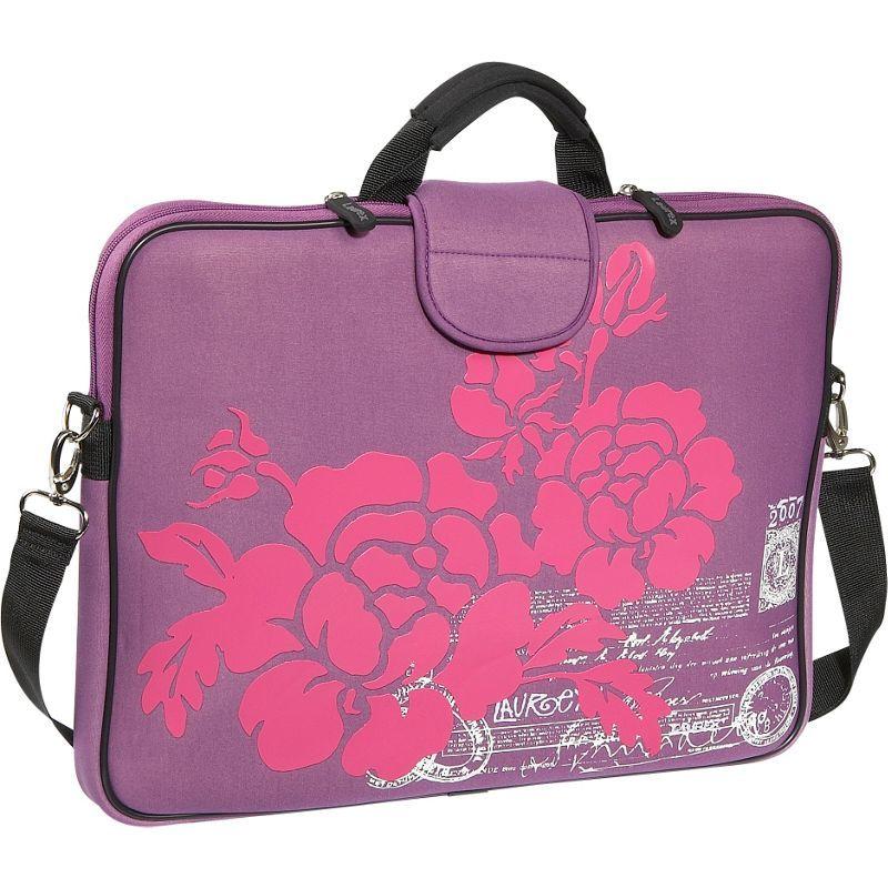 ラウレックス メンズ スーツケース バッグ 17 Laptop Sleeve Purple Hibiscus