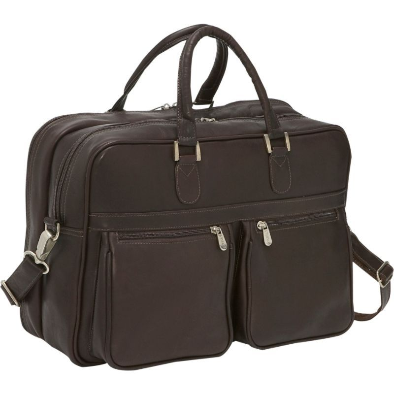 ピエール メンズ スーツケース バッグ Checkpoint Friendly Laptop Brief/Overnighter Chocolate