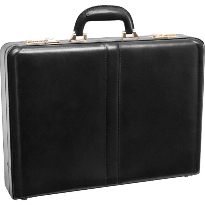 マックレイン メンズ スーツケース バッグ Reagan Leather Attache Case Black