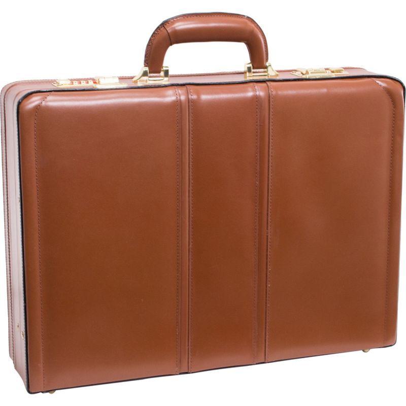 マックレイン メンズ スーツケース バッグ Coughlin Leather Expandable Attache Case Brown