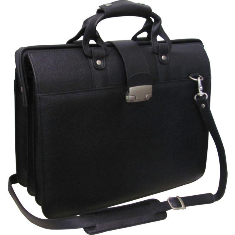 アメリ メンズ スーツケース バッグ Leather Doctor's Carriage Bag Black