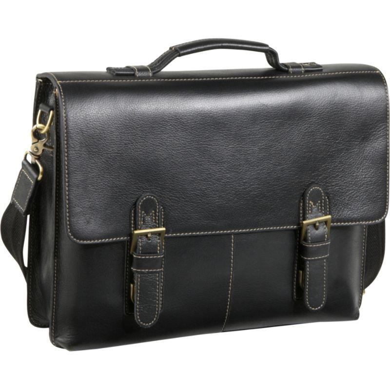 アメリ メンズ スーツケース バッグ Classical Leather Organizer Briefcase Black