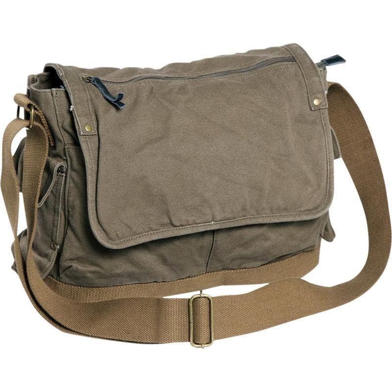 ヴァガボンドトラベラー メンズ ショルダーバッグ バッグ Casual Style Canvas Messenger Bag Military Green