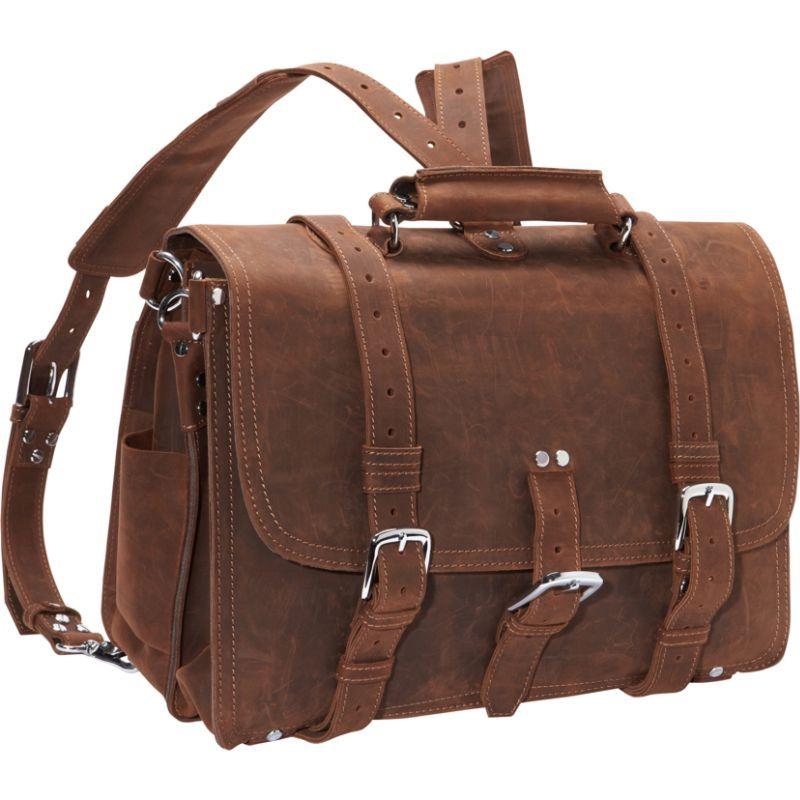 ヴァガボンドトラベラー メンズ スーツケース バッグ Extra Large Full Leather Briefcase & Backpack Vintage Brown