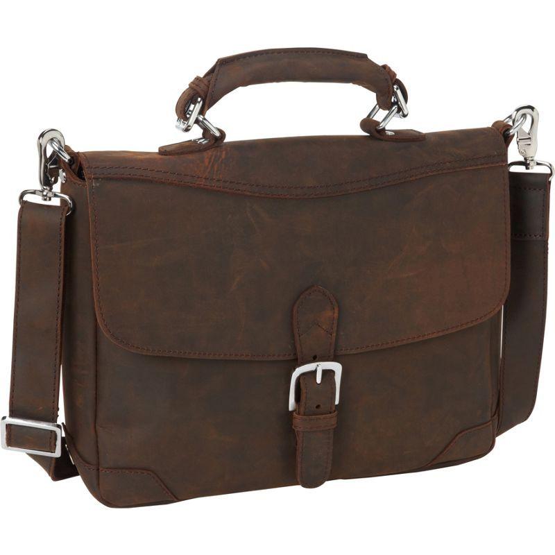ヴァガボンドトラベラー メンズ スーツケース バッグ 15 Cowhide Fine Leather Messenger Bag with Clasp Lock Vintage Distress
