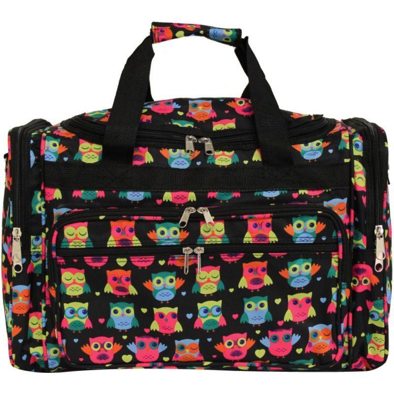 ワールドトラベラー メンズ スーツケース バッグ Owl 19 Shoulder Duffle Bag Owl Black