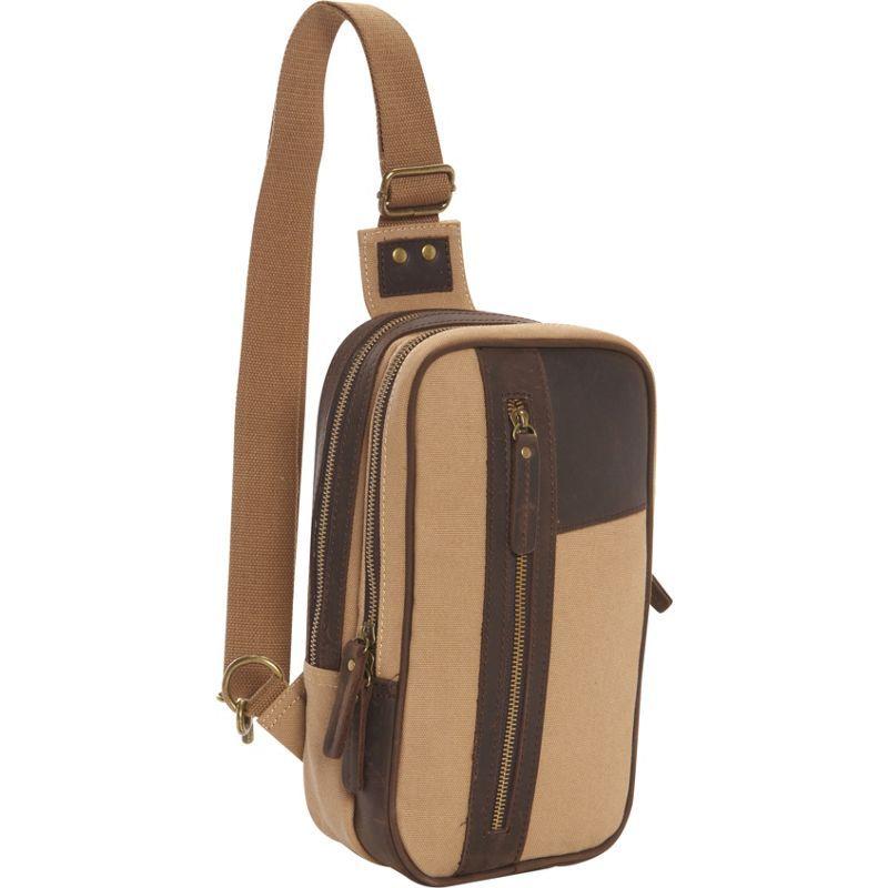 ヴァガボンドトラベラー メンズ ショルダーバッグ バッグ Dual Compartments Cotton Canvas Travel Chest Pack Khaki