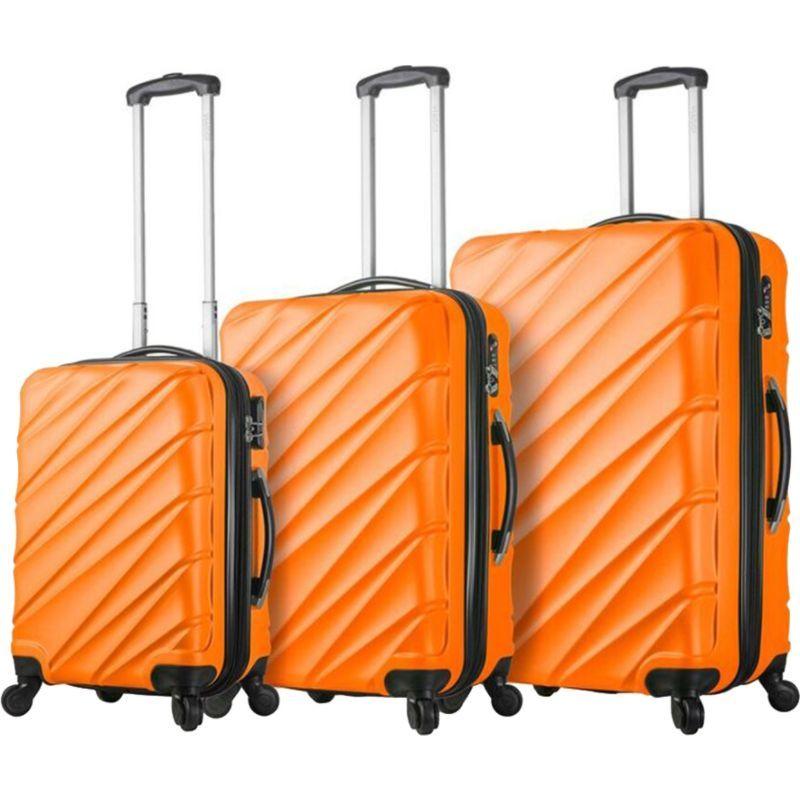ミアビアッギ メンズ スーツケース バッグ Lodi Hardside 3 Piece Spinner Set Orange