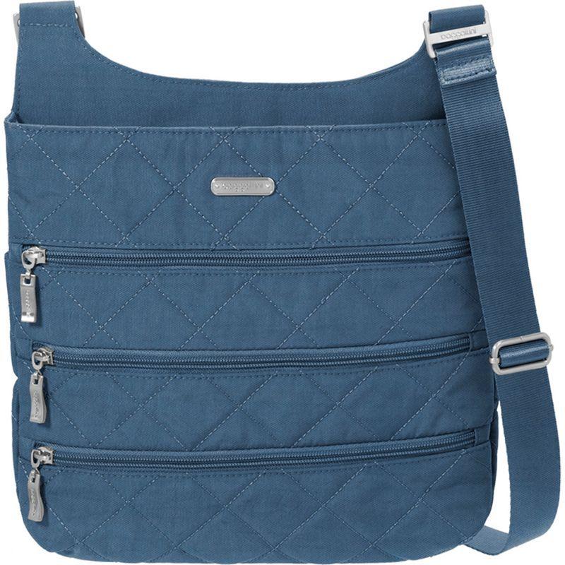 バッガリーニ メンズ ボディバッグ・ウエストポーチ バッグ Quilted Big Zipper Bagg Crossbody with RFID Slate Quilt