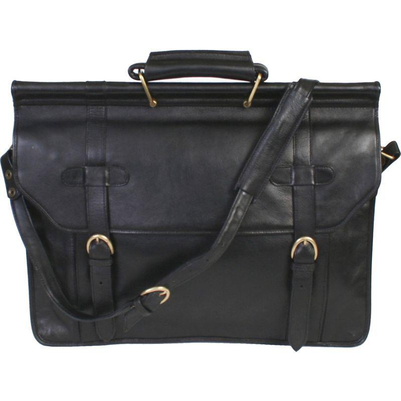 スカーリー メンズ スーツケース バッグ Hand Stained Calf Leather Overnight Workbag Black