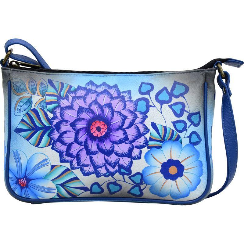アンナバイアナシュカ メンズ ボディバッグ・ウエストポーチ バッグ Hand Painted Mini Wide Crossbody Summer Bloom Blue
