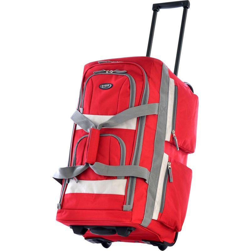 オリンピア メンズ スーツケース バッグ 22 8 Pocket Rolling Duffel Bag Red