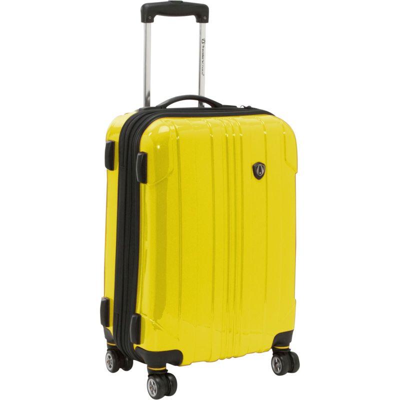 トラベラーズチョイス メンズ スーツケース バッグ Sedona 21 in. Hardside Spinner Yellow
