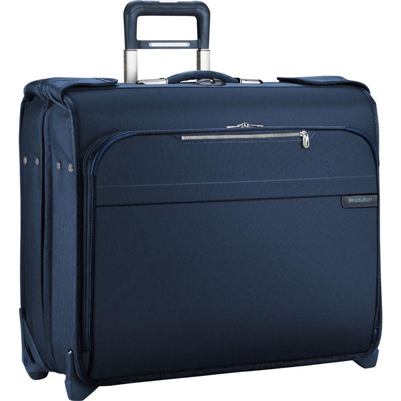 ブリグスアンドライリー メンズ スーツケース バッグ Baseline Deluxe Wheeled Garment Bag Navy