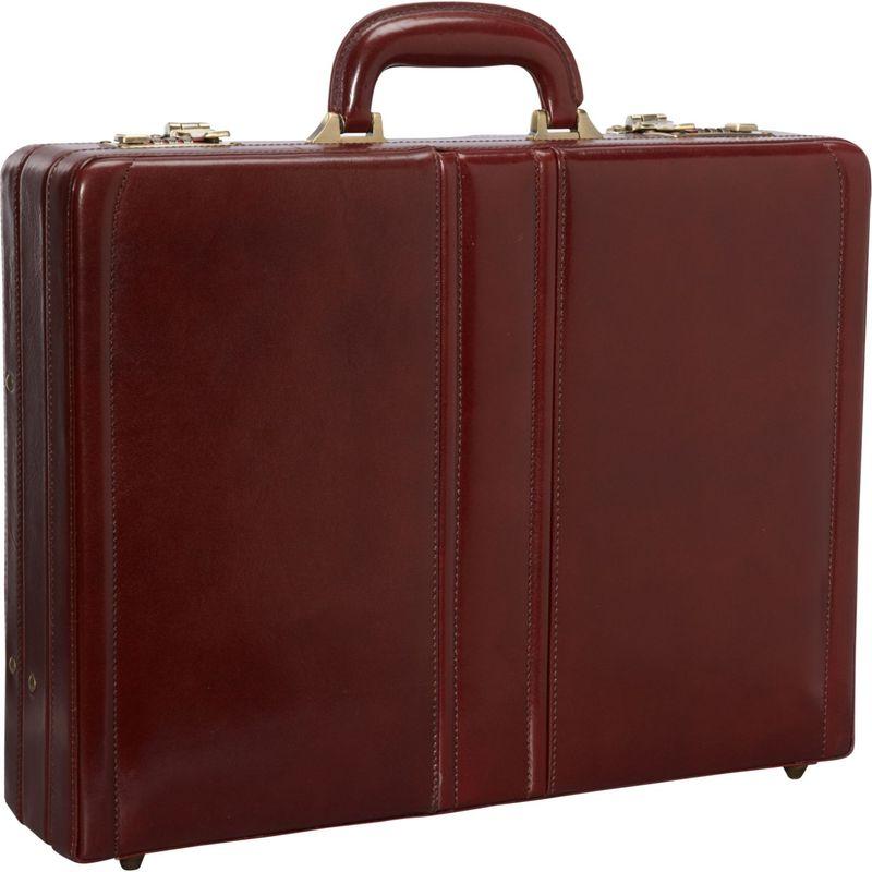 マンシニレザーグッズ メンズ スーツケース バッグ Luxurious Italian Leather Expandable Attach Case Brown