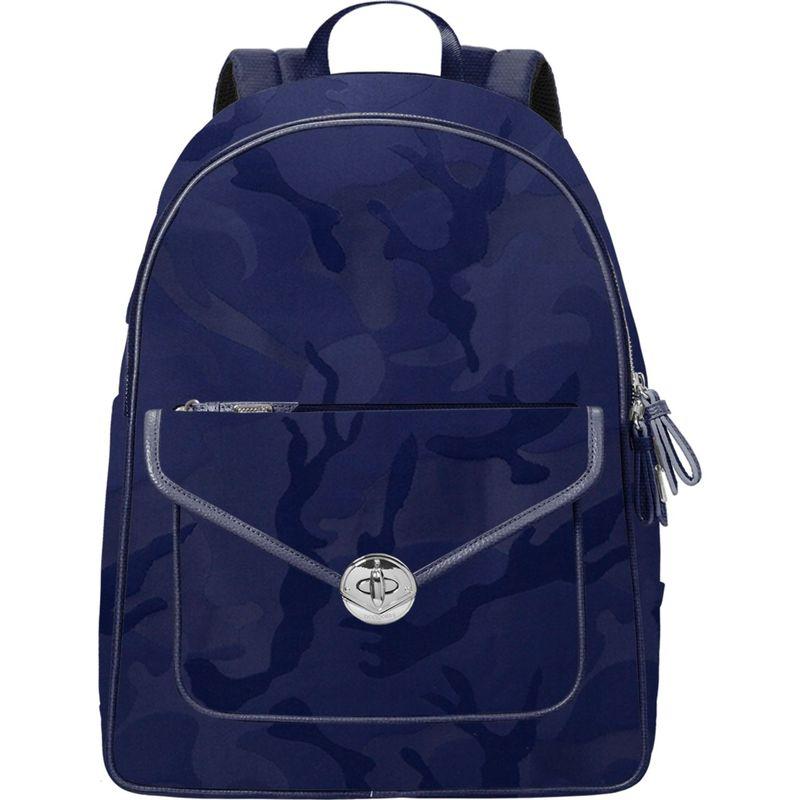 バッガリーニ メンズ スーツケース バッグ Granada Laptop Backpack Navy Jacquard