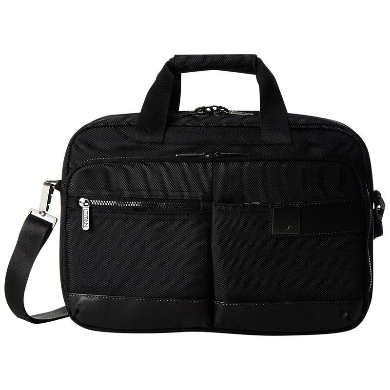 タイタンバッグス メンズ スーツケース バッグ Power Pack Organizational 15.5 Laptop Brief Black