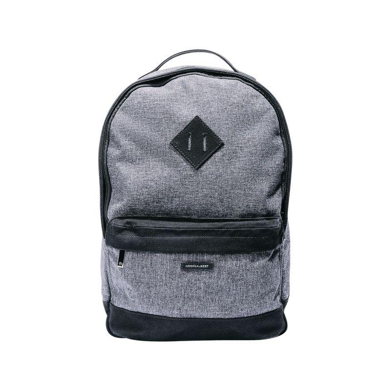 フック&アルバート メンズ スーツケース バッグ Fabric Backpack Gray