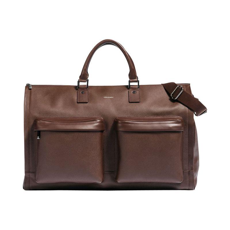 フック&アルバート メンズ スーツケース バッグ Leather Gen. 2 Garment Weekender Bag Brown