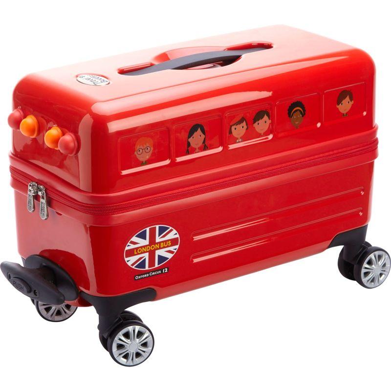 トレンディキッズ メンズ スーツケース バッグ Travel Buddies Ride-On London Bus Red